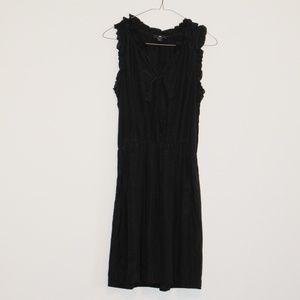Gap black chiffon midi dress